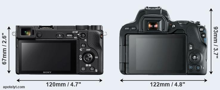 A6300 and 200D rear side