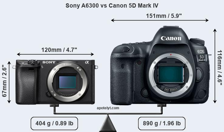 Compare Sony A6300 vs Canon 5D Mark IV