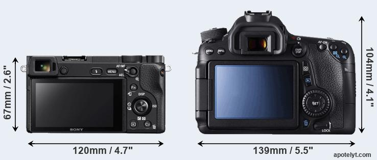 A6300 and 70D rear side