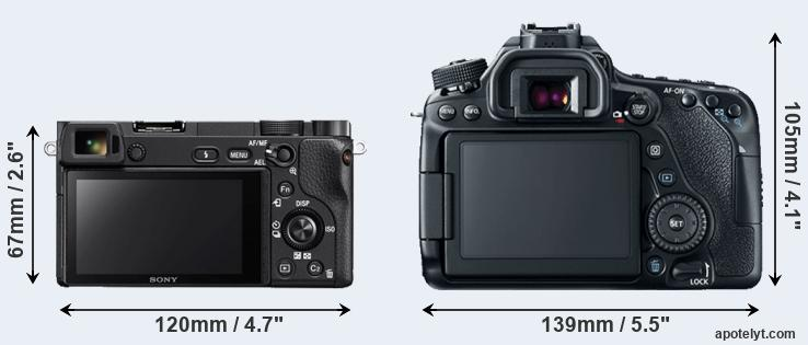 A6300 and 80D rear side