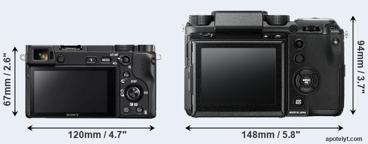 A6300 and GFX rear side