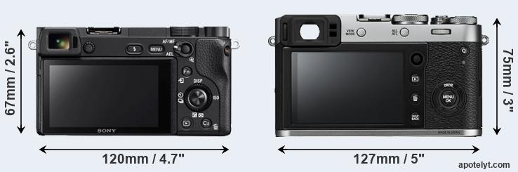 A6300 and X100F rear side
