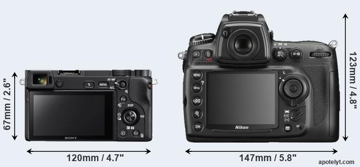 A6300 and D700 rear side