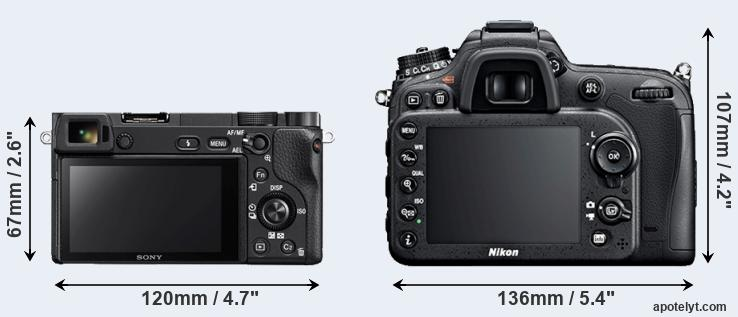 A6300 and D7100 rear side