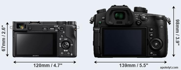 A6300 and GH5 rear side