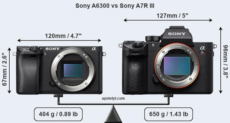 Compare Sony A6300 vs Sony A7R III
