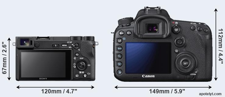 A6500 and 7D Mark II rear side