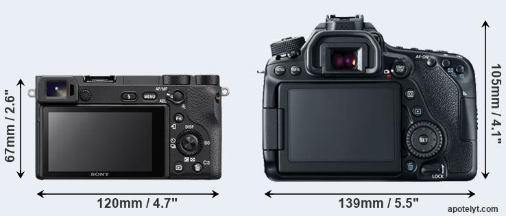 A6500 and 80D rear side