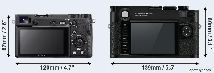 A6500 and M10 rear side
