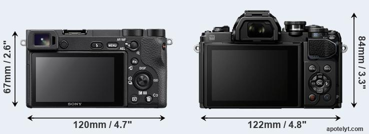 A6500 and E-M10 III rear side