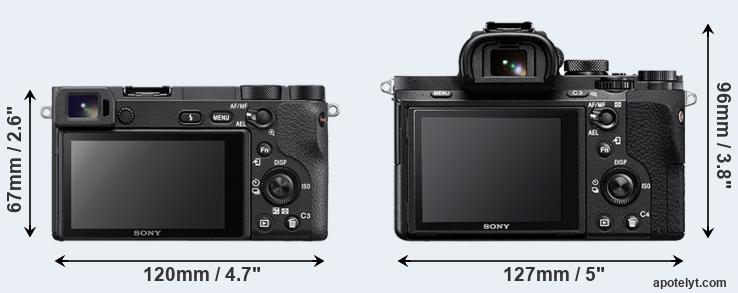 A6500 and A7 II rear side