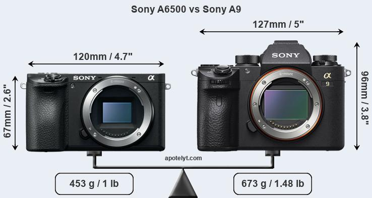 Compare Sony A6500 vs Sony A9