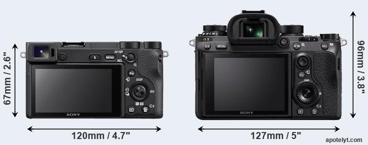 A6500 and A9 rear side