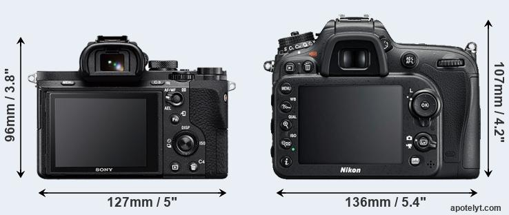 A7 II and D7200 rear side