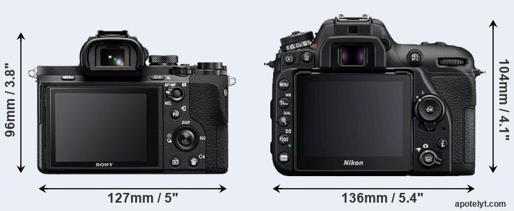 A7 II and D7500 rear side