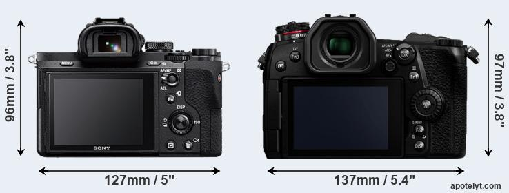 A7 II and G9 rear side