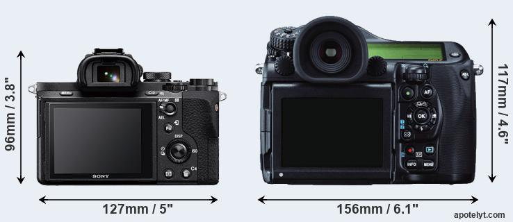 A7 II and 645Z rear side