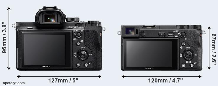 A7 II and A6500 rear side