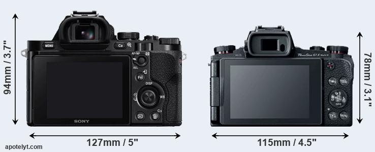 A7 and G1X Mark III rear side