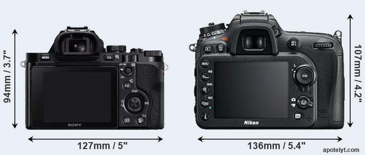 A7 and D7200 rear side
