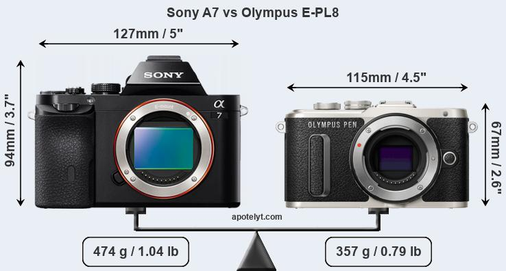 Compare Sony A7 and Olympus E-PL8