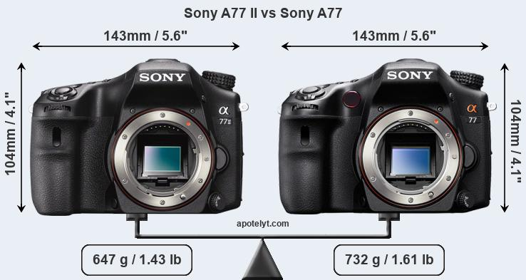 Compare Sony A77 II vs Sony A77