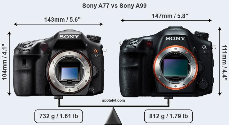 Compare Sony A77 vs Sony A99