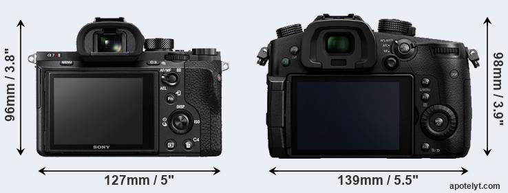 A7R II and GH5 rear side