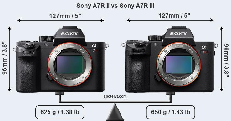 Compare Sony A7R II and Sony A7R III