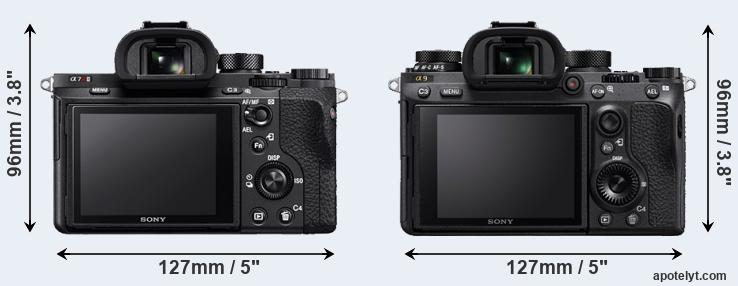 A7R II and A9 rear side