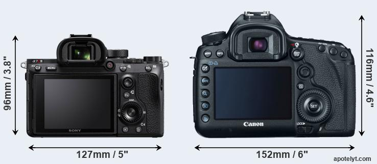 A7R III and 5D Mark III rear side