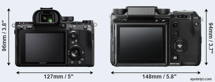 A7R III and GFX rear side