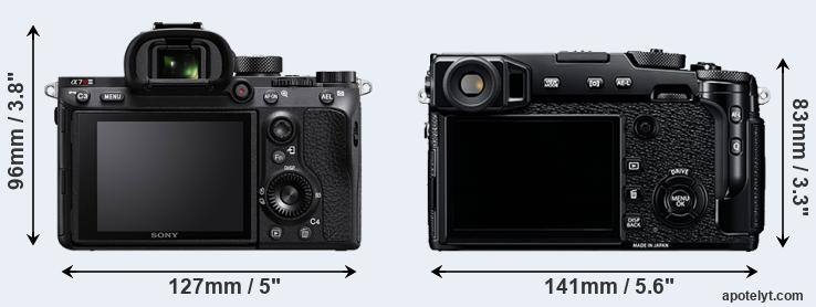 A7R III and X-Pro2 rear side