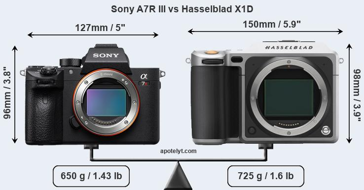 Sony A7R III vs Hasselblad X1D front