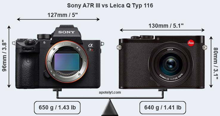 Compare Sony A7R III vs Leica Q Typ 116