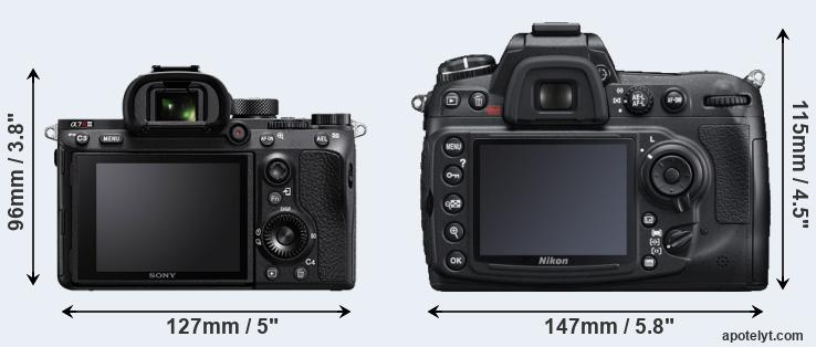 A7R III and D300S rear side