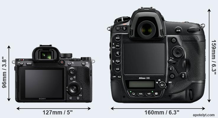 A7R III and D5 rear side