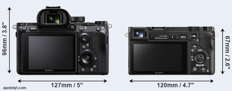 A7R III and A6000 rear side