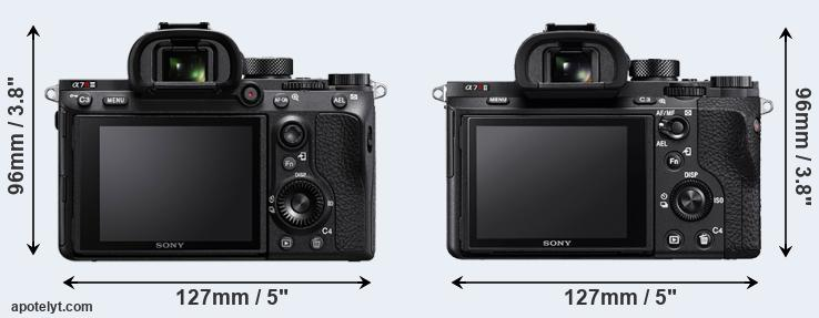 A7R III and A7R II rear side