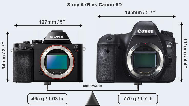Snapsort Sony A7R vs Canon 6D