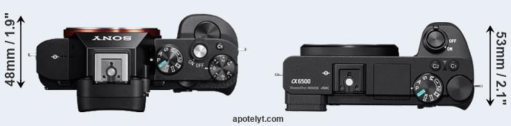 A7R versus A6500 top view