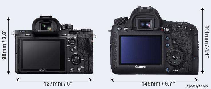 A7S II and 6D rear side