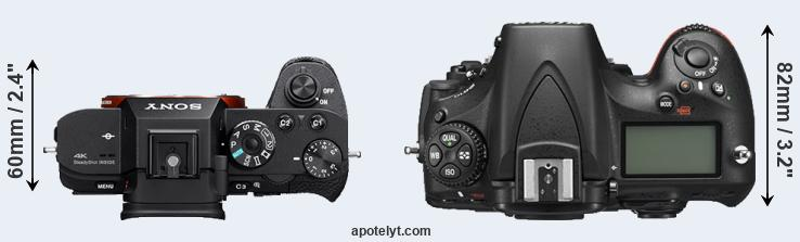 A7S II versus D810 top view