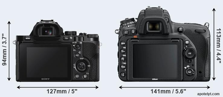 A7S and D750 rear side