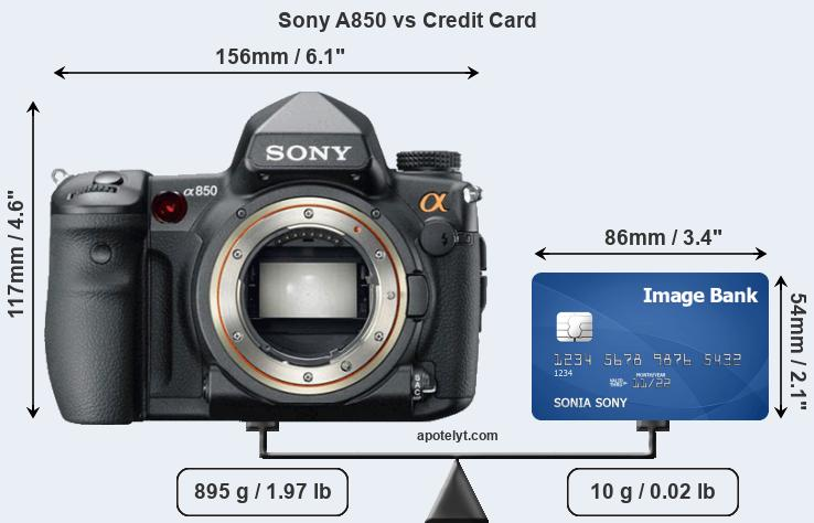 Sony A850 vs credit card front