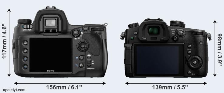 A850 and GH5 rear side