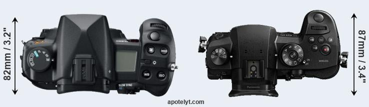 A850 versus GH5 top view
