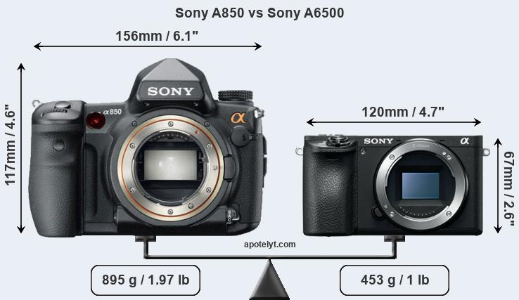 Compare Sony A850 vs Sony A6500