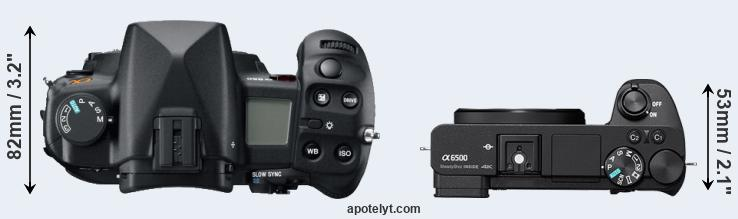 A850 versus A6500 top view