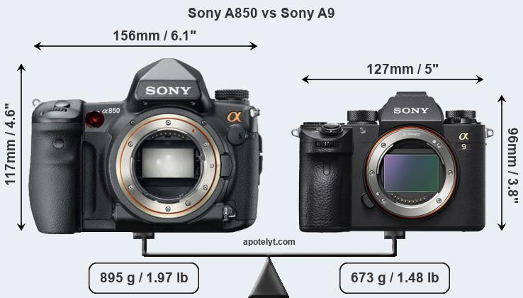 Compare Sony A850 vs Sony A9